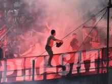 Daspo per 70 tifosi albanesi per lancio fumogeni durante Italia-Albania