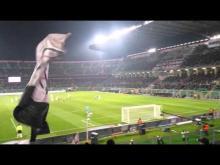 Palermo-Roma 1-1 cori curva nord inferiore!
